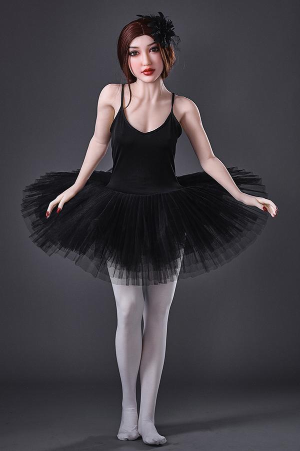 Brüste Tänzer schöne schwarze Schwan TPE Sexpuppe
