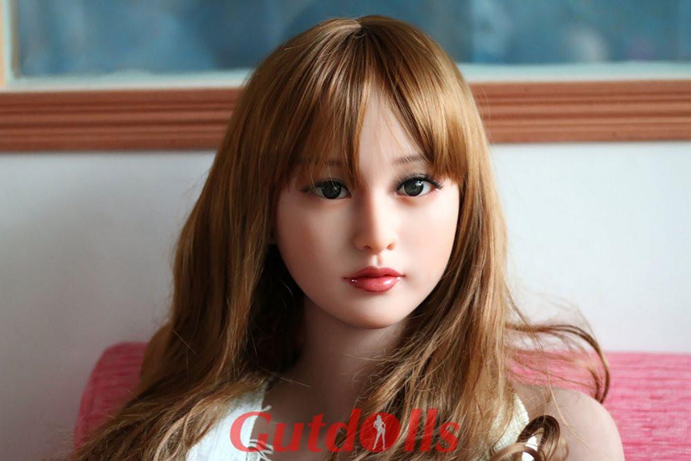 Charmantes Lächeln Mollige Busen mit Händen halblange Puppe Nr.33 Kopf Guenstige silikon puppe kaufen